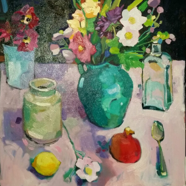 Still Life With a Turquoise Vase, Carol Moore, Greengallery