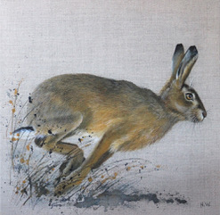 Another Running Hare, Helen Welsh, Greengallery