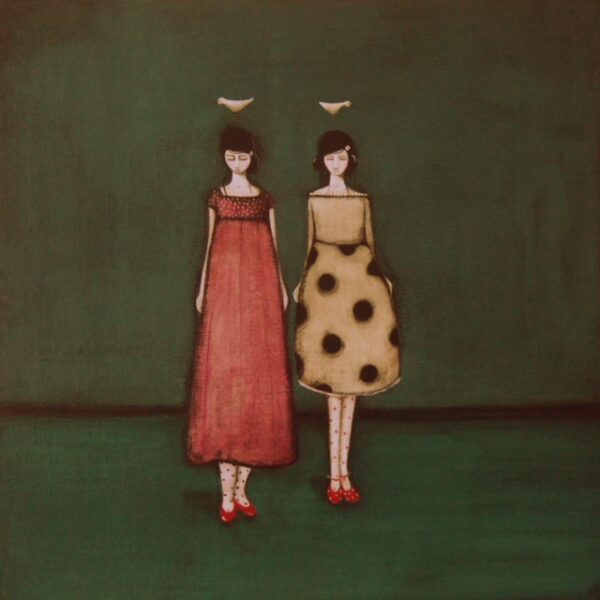 Betty and Doris in their Party Frocks, Jackie Henderson, Greengallery