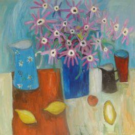 Still Life with Jugs and Lemons by Caroline Plummer