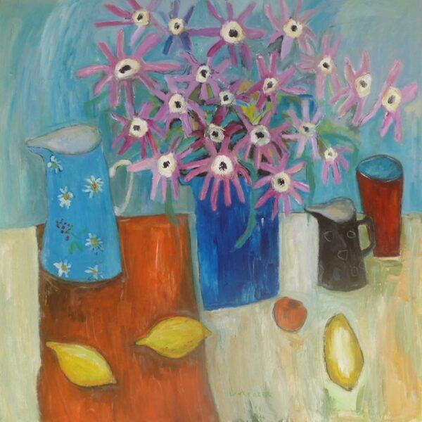 Still Life with Jugs and Lemons, Caroline Plummer, Greengallery