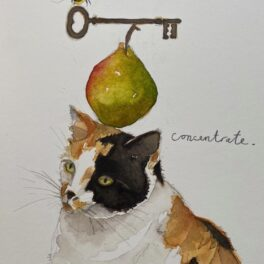 Cat and Pear by Janice Gray