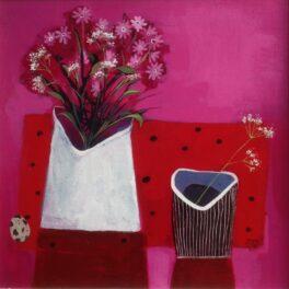 Pinks on Pink by Mairi Stewart