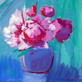 Pink Peonies in a Ginger Jar by Marion Thomson