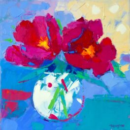 Two Peonies in a Pot by Marion Thomson