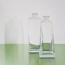 Two Bottles on Green by Fiona Clasen
