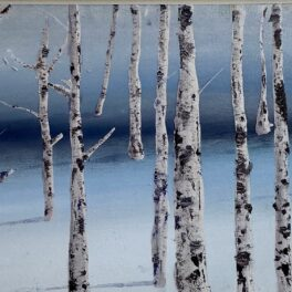 16 Birches by Gill Knight
