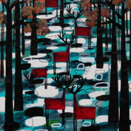 Autumn on Teal by Nikki Monaghan