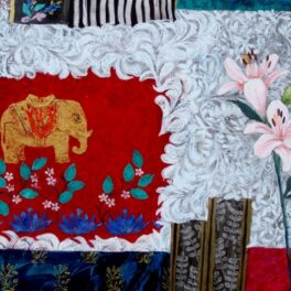 Elephant and Lily by Jean Hall