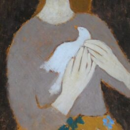 Girl with a Bird by Helen Tabor