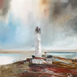 Lighthouse Amid a Storm by Rosanne Barr