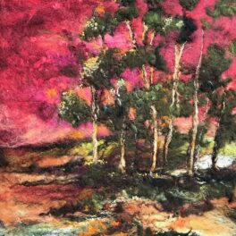 Ruby Sky and Pines by Moy Mackay