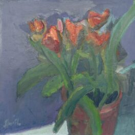 Red Tulips by Ronald F Smith RSW RGI