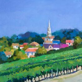 Sancerre Village and Vine by Carol Moore