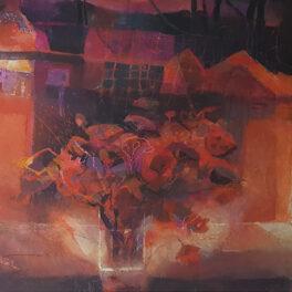 Summer Night Kilbarchan by Hazel Nagl RSW RGI