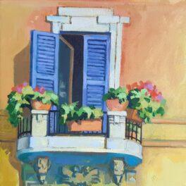 Balcony Scene by Carol Moore