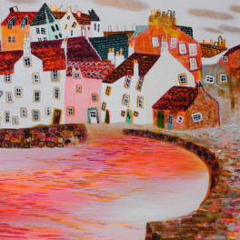 Copper Clouds over Pitenweem by Nikki Monaghan