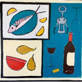 Fish, Bottle and Bowl by Claire MacLellan