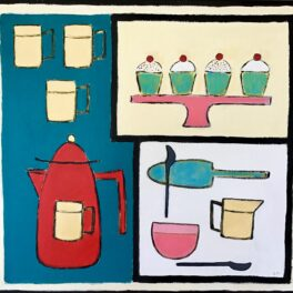 Coffee Pot, Cakes and Cups by Claire MacLellan