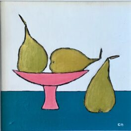 Pears and Pink Dish by Claire MacLellan