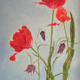 Red Tulips & Fritillaria by Gill Wilson