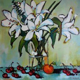 Lillies on a Bed of Cherries by Lex McFadyen