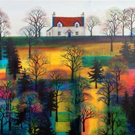 Red Roof on the Ridge by Erraid Gaskell