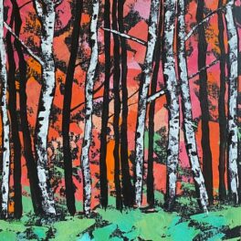 Red on Green by Rosie Playfair