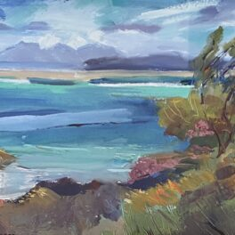 Turquoise Sea Camusdarach by Margaret Ballantyne