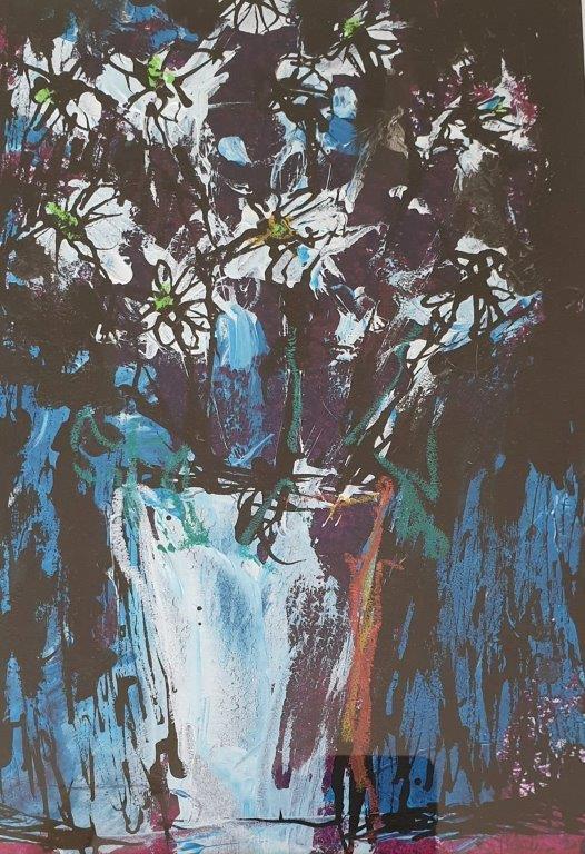 Kate Henderson, Blue Daisies II, Greengallery
