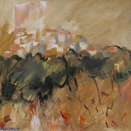 Orange Landscape by Margaret Ballantyne