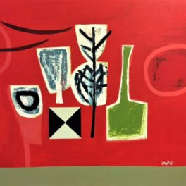 Arrangement on Red by Simon Laurie RSW RGI