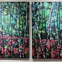 Silver Birches in Technicolour by Rosie Playfair